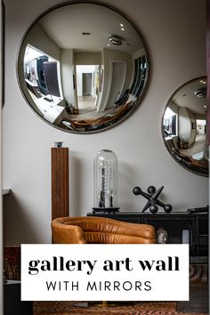 The mirrors are truly an interesting  decorative and they often tend to become the most attention-grabbing  centerpiece of your home. You can do many creative things in your home  using the mirrors. Some people wish to keep it simple while some use  innovative varieties of mirrors for the ornamentation of their home. A  beautiful mirror surely spruces up the look of the wall in a much better  way as compared to a plain mirror. Nikon D800, Home Interior Design, Interior Decorating, Urban Apartment, Photoshop, Mirror Art, Minimalist Interior, Round Mirrors, White Walls