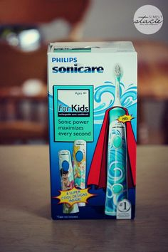 Philips Sonicare for Kids rechargeable sonic toothbrush - great to instill good brushing habits in kids!  #SonicareSmiles #ad