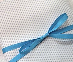 "3 Yard Fabric Bundle - 100% Pima Cotton Shirting, White w/Blue Pin-Stripes, 45"" Wide (7 available)"
