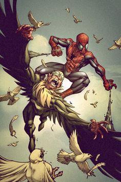 SPIDER-MAN BATTLES THE VULTURE
