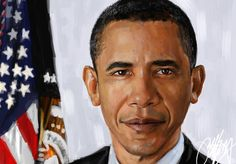 Image result for obama portrait painting