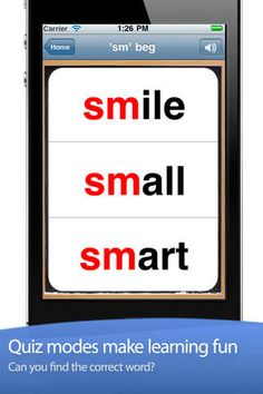 This app is specifically designed to help students recognize and distinguish words by sounds.