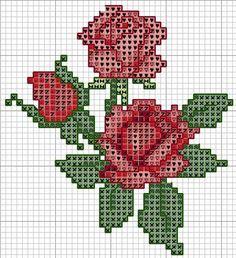 Graficos gratis de flores en punto de cruz03