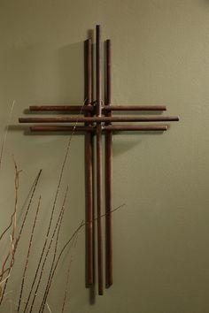 Three Layered Iron Wall Cross - 4'