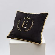 Black velvet personalized pillow ✨ #pillow #velvetpillow #personalizedpillow #personalizedcushion #interiordecor #homedecor Initial Cushions, Monogram Pillows, Personalized Pillows, Velvet Cushions, Black Velvet, Pillow Inserts, Decorative Pillows, Throw Pillows, This Or That Questions