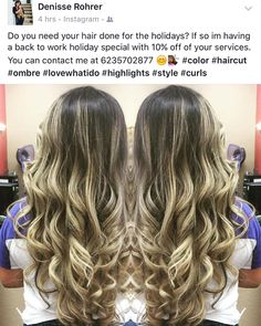My wife is offering a great special right now for the holidays please message her for prices and info. Appointments are filling up fast so act quickly #hair #haircut #color #az #goodyear #holidays #avondale #cut #trim #ombre #brazilianblowout #curl by reaxtionz http://shearindulgencespansalon.com/
