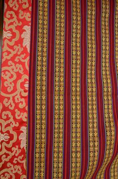 Door curtain cover Tibetan with Bhutanese woven by TheYakery