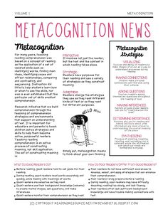 Two Can Do It: Metacognition News (Freebie)