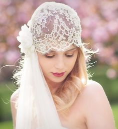 Boho veil from Rhapsodie France, Charline Veil