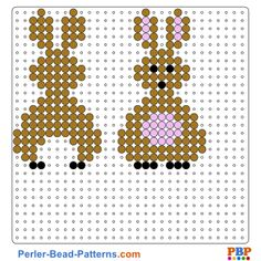 Easter perler bead pattern. Download a great collection of free PDF templates for your perler beads at perler-bead-patterns.com