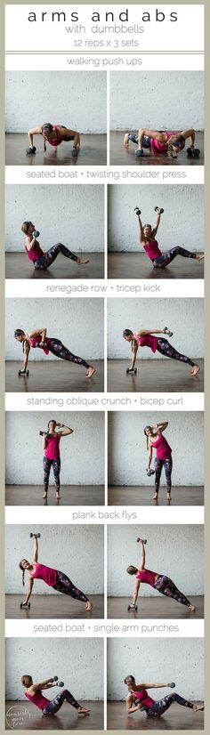 6-move arms and abs workout to strengthen and tone |6-moves, 20 minutes, and a…