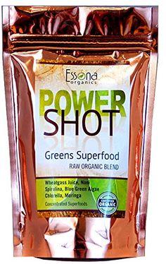 Power Shot Greens Superfood with Organic Blue Green Algae, Wheatgrass, Spirulina, Chlorella, Noni. Organic Supplements, Nutritional Supplements, Alkaline Diet Recipes, Green Superfood, Superfood Powder, Yummy Smoothies, Green Smoothies, Wheat Grass, Green Algae