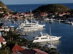 The beautiful yachts in Gustavia, St. Barts. This picture demonstrates the chicness of the island - effortless glamour.