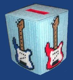Great guitar tissue box cover.