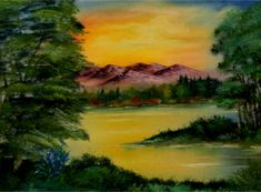 bob ross painting - Google Search