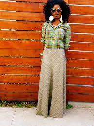 Image result for plaid maxi skirt
