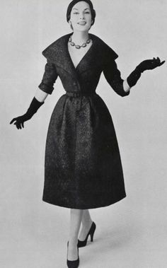 1954 Christian Dior dress and necklace