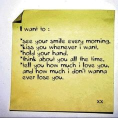 I want to:
