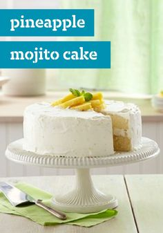 Pineapple Mojito Cake – We've captured the fresh mint bite of a mojito in a delicious cake recipe with a lime and COOL WHIP topping. Speechless? We thought so.
