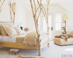 love the bed frame and lamp but would change floors to wood and more color accents!