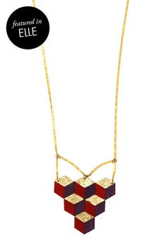 Multi-color Cubes Necklace...for Rachel. It reminds me of Q-bert and she was the best at that game.