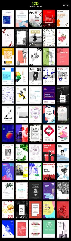 120 in 1 Poster & Flyer Bundle on Behance