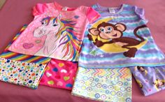 Pajamas and pillowcases (and pillows, not pictured) to Little Singer Community School.