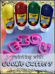 All Kinds of Things: Painting with Cookie Cutters