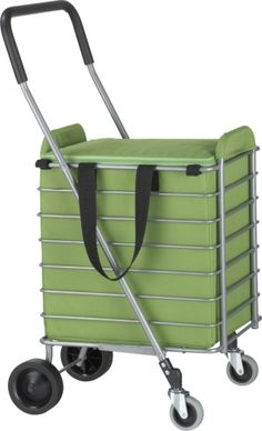 Color : B Shopping Trolley Steel Folding Shopping Cart Shopping Grocery Shopping Cart