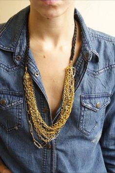 Multi Chain Necklace, $70 - Lily Dawson Designs  http://www.lilydawsondesigns.com/shop/necklaces/multi-chain-necklace/