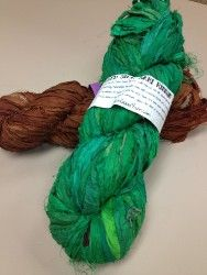 Don't enter, I don't want the competition, I just want an extra entry. ;o) Recycled Silk Sari Ribbon Yarn Giveaway