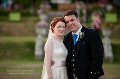 White Mischief bride wears Augusta Jones wedding dress at South Lodge Hotel