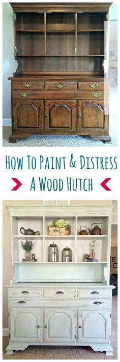 distressed wood furniture. how to paint and distress a wood hutch distressed furniture i