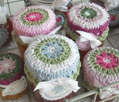 Glass jar topper-frree crochet pattern diagram ❥Teresa Restegui http://www.pinterest.com/teretegui/❥