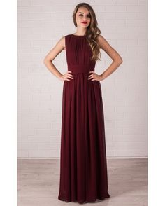 Floor Length Evening Dress Marsala. Chiffon Dress Bridesmaid. by Dioriss on Etsy https://www.etsy.com/listing/255249322/floor-length-evening-dress-marsala