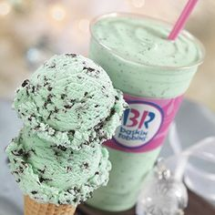 I eat green mint ice cream almost every day, but not from Baskin-Robbins.