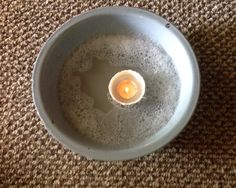 To eradicate fleas from your home, float a lit tea candle in a bowl of water with dish detergent. The warmth attracts them and the soap kills them.