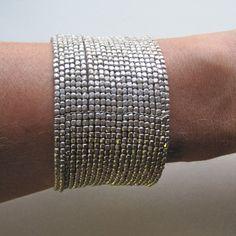 silver beaded cuff. love it!