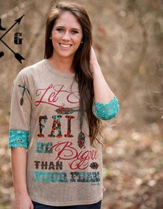 b930663c015177 Let Your Faith Be Bigger than Your Fears Top - Also in Plus Size Palazzo  Pants