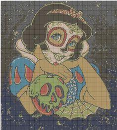 Snow White sugar skull graphgan