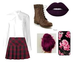 """""""School girl"""" by willow-valdez on Polyvore featuring Helmut Lang, Refresh and Kate Spade"""