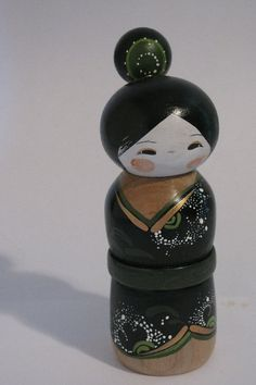 Geisha+Kokeshi+doll+by+NaomiGallery+on+Etsy,+$42.00