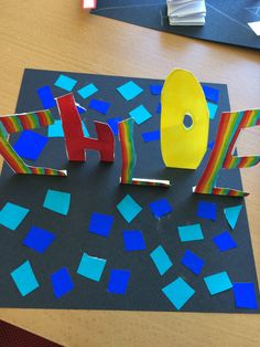 Name sculptures. Year 6. Showed a PPT all about text and art.