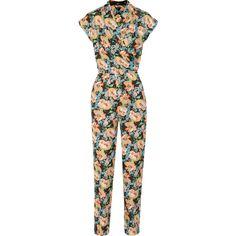 Tucker Floral-print silk-georgette jumpsuit NET-A-PORTER.COM ($430) via Polyvore
