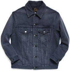 Needles Charcoal Denim Jacket