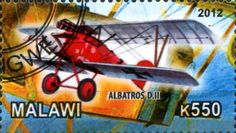 Stamp: Albatros D.III (Cinderellas) (Malawi) Col:MW 2012-15/5