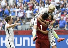 Five players on the women's team filed a federal complaint, accusing U.S. Soccer of wage discrimination because, they said, they earned as little as 40 percent of what players on the United States men's national team earned even as they marched to the team's third world championship last year. (Photo: Franck Fife/Agence France-Presse — Getty Images)