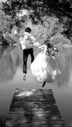 A couple taking the leap