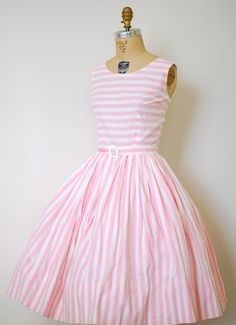 Pink And White Stripes, Pale Pink, Feminine, Formal Dresses, Fashion, Girly, Formal Gowns, Moda, Fashion Styles