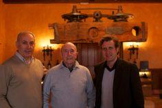 Christopher Barnes interviewing Juan Luis Cañas and Luis Cañas, at Luis Cañas in Rioja